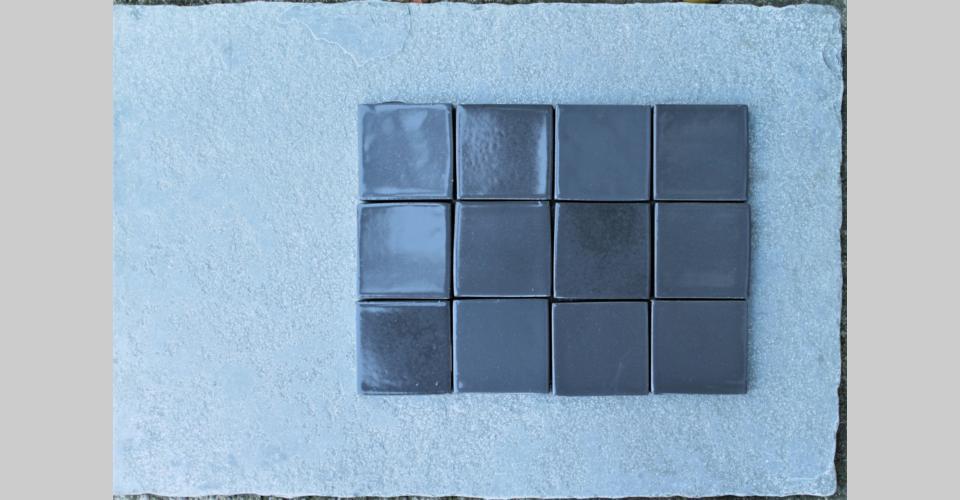 7,5x7,5 handamde extra  -  grey