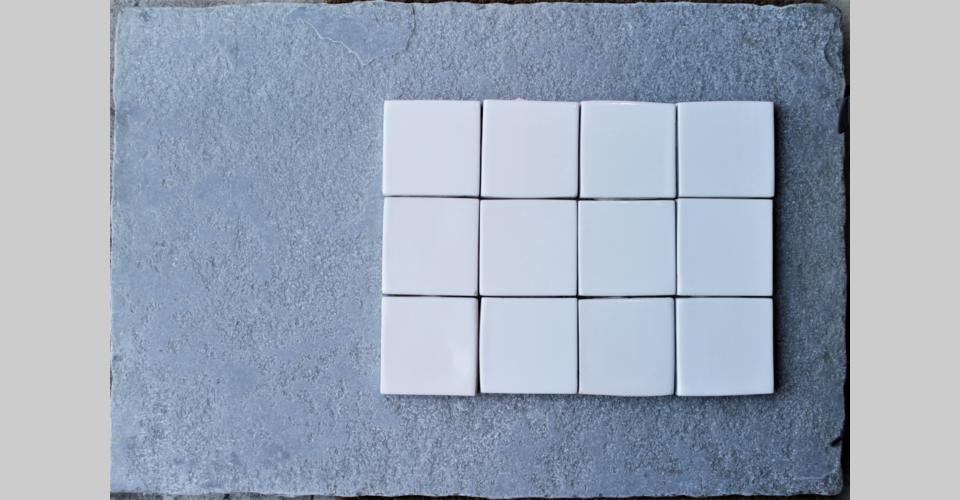 7,5x7,5 handamde extra - white
