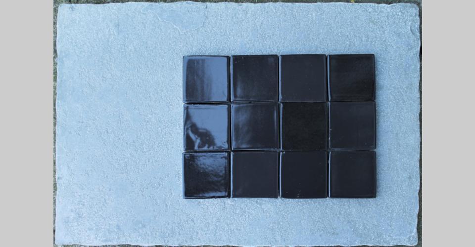7,5x7,5 handmade extra - black